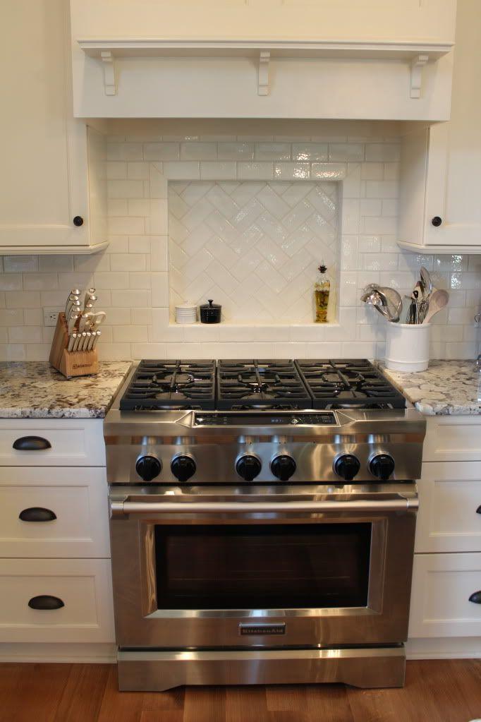 Granite- White Alaska/Delicatus Cabinets- Brookhaven in