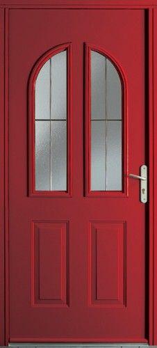 porte acier porte entree classique poignee plaque couleur laiton mi vitree triple vitrage. Black Bedroom Furniture Sets. Home Design Ideas