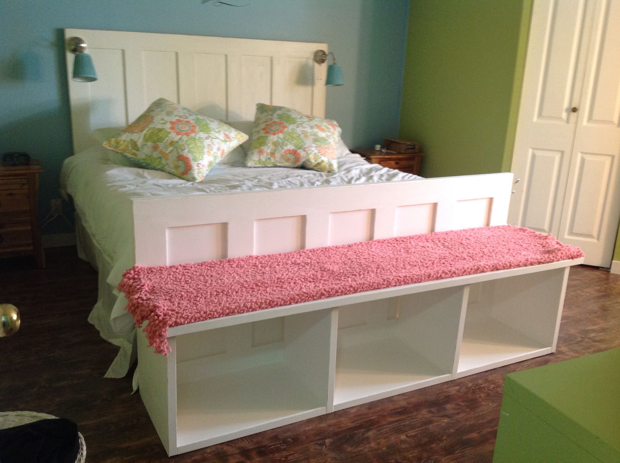 Headboard And Footboardstorage Bench Made From Doors