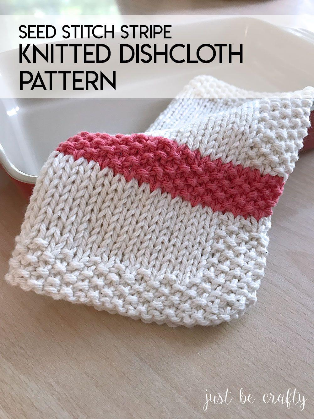 Seed Stitch Stripe Dishcloth Pattern | Seed stitch, Free pattern and ...