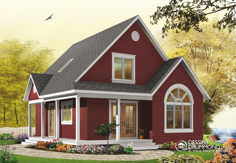 Plan modèle 1 étage et demi Casa Pinterest House, Tiny houses