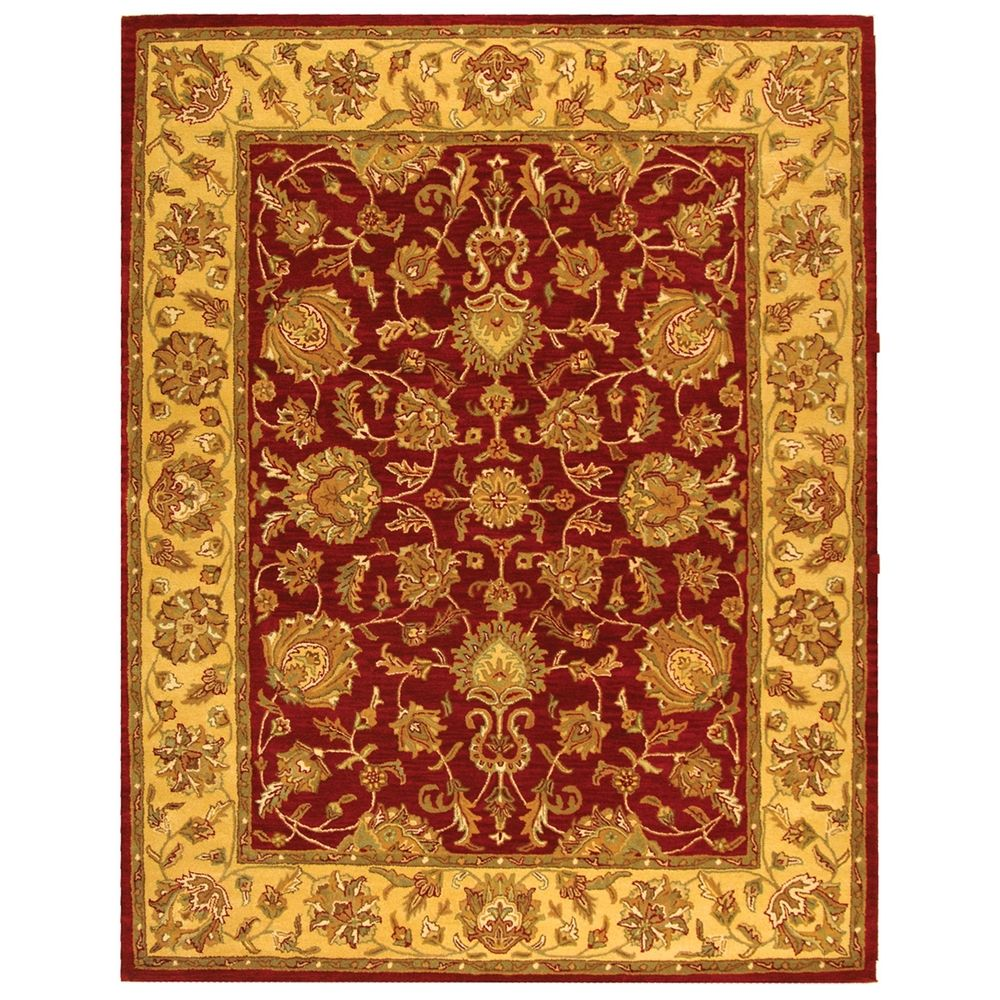 Safavieh Handmade Heritage Kerman Red/ Gold Wool Rug (7'6 x 9'6) - Overstock™ Shopping - Great Deals on Safavieh 7x9 - 10x14 Rugs