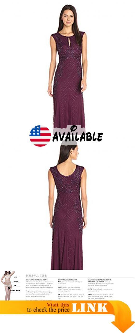 B01K7Z57ZA : Adrianna Papell Women\'s Sleeveless Beaded Gown With ...