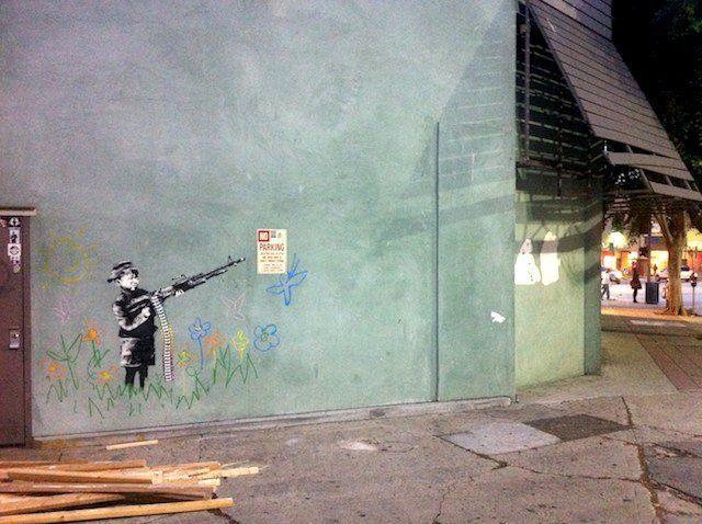 Untitled (2011, Westwood, Los Angeles) Stencil mural