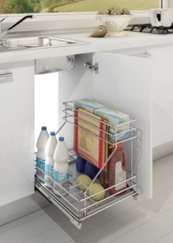 Tea Towel Rail Pull Out Detergent Rack Enko Group Cabinet