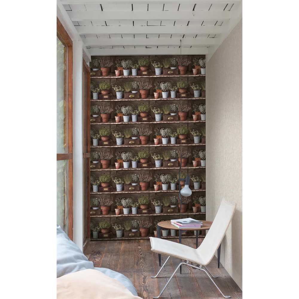 Grandeco Herb Shelf Multi Paste the Wall Wallpaper