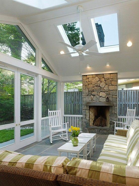 35 Beautiful Sunroom Design Ideas Porch Design Sunroom Designs House With Porch