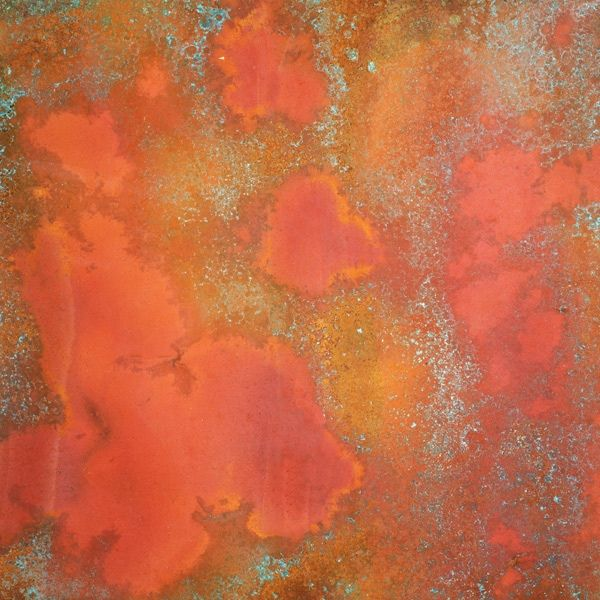 Rojo Patina Copper Sheet Light 36 Gauge Copper Sheets Metallic Backsplash Marble Backsplash