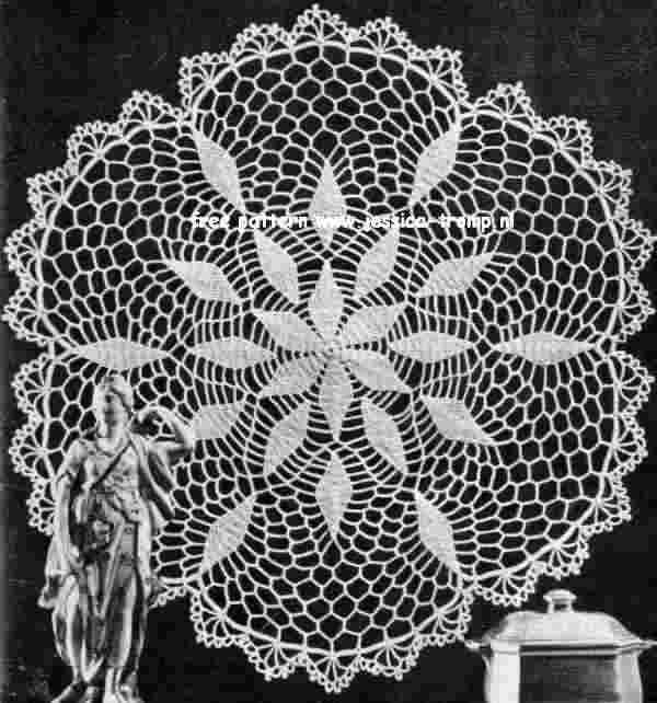 Frosty Leaves doily free vintage crochet doilies patterns | Crochet ...