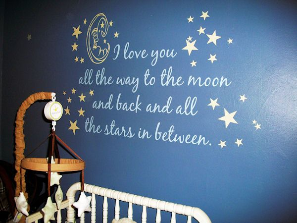 Moon Back Wall Decal Star Themed Nursery Star Nursery Night Nursery