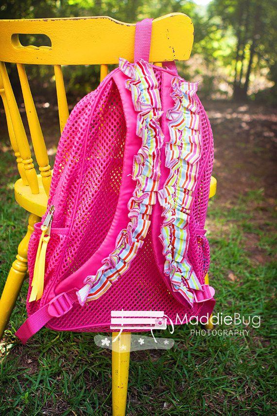 b4279e72a Monogram Mesh Backpack Clear Mesh Bookbag by MadHouseBoutique   Ella ...