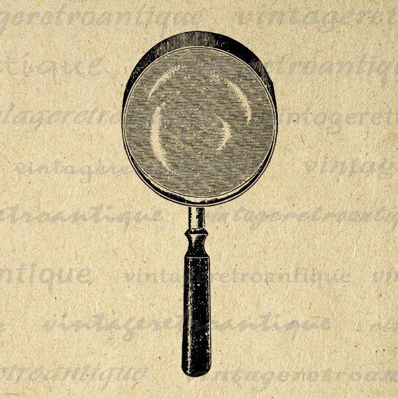 Digital Image Magnifying Glass Graphic Illustration