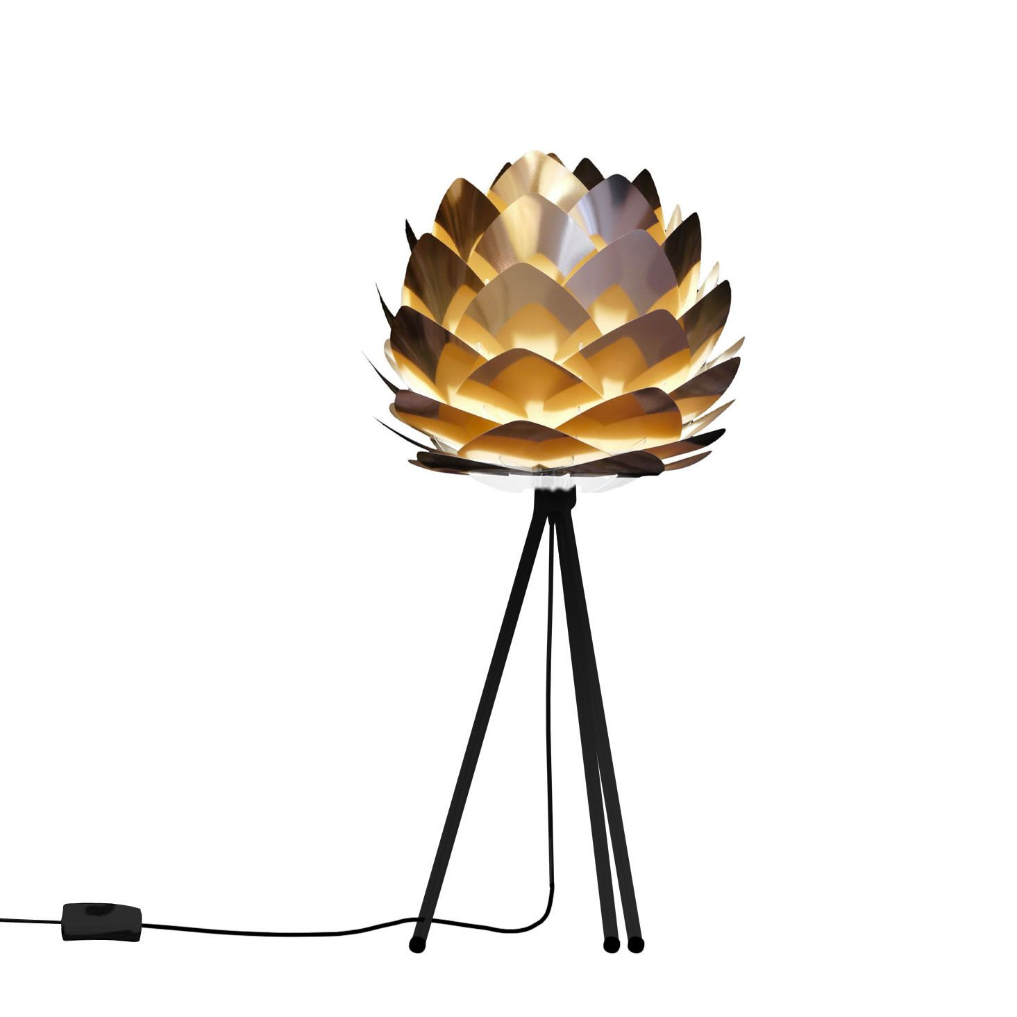 Lampe A Poser Cuivre Trepied Noir O34cm Silvia Hall Spaces And