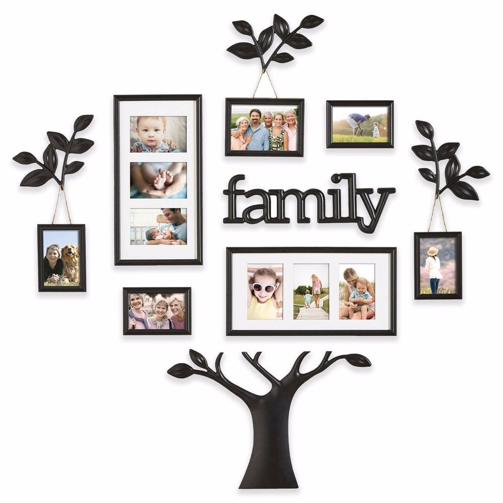 12 Piece Picture Photo Frame Set Family Tree Collage Black Wall Art Home Decor Celebrates The Lo Family Picture Frame Wall Frame Wall Collage Family Tree Photo
