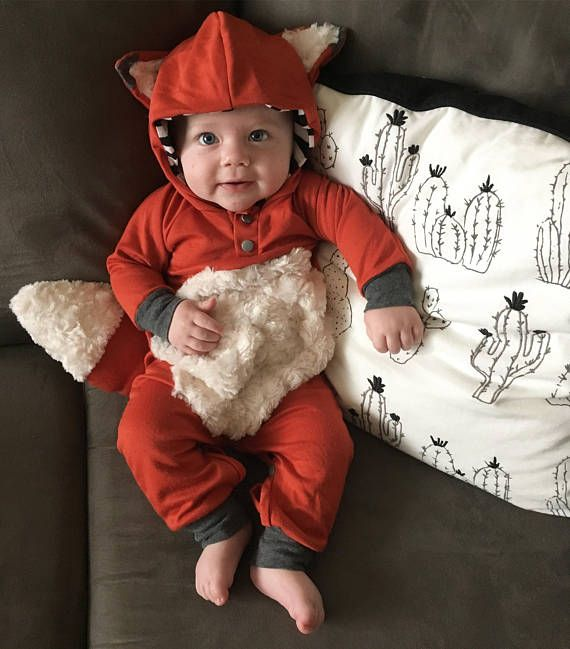 Cute costume | Shop. Rent. Consign. MotherhoodCloset.com Maternity Consignment  sc 1 st  Pinterest & Fox Hooded Romper Fox Outfit Halloween outfit baby costume fox ...