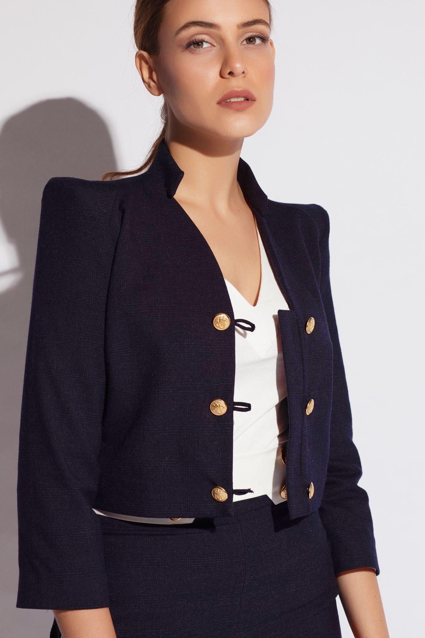 good first rate many fashionable col structuré sur une longueur raccourcie la veste #boléro ...