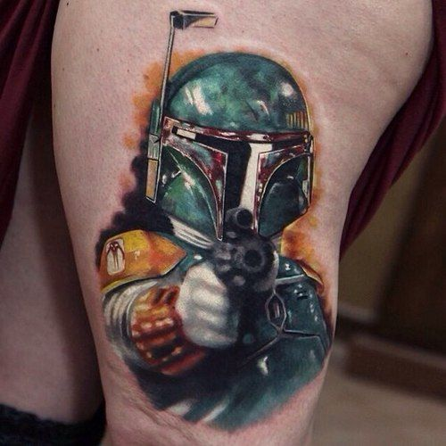 Boba Fett May The 4th Be With You: Bad Ass BobaFett Tattoo From Star Wars Tattoo, May The