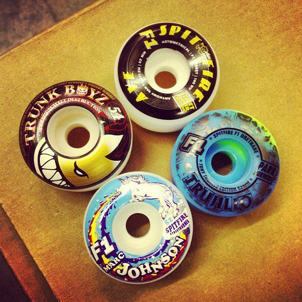 Tons of new Spitfire Wheels in the Skate Warehouse!! From
