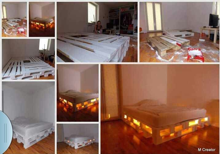 Diy bed frame  I think it looks a little like minecraft | Home | Diy