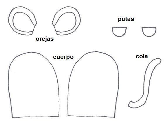 Moldes para hacer títeres de dedo ratón | TITERES | Pinterest