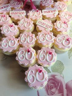 60th birthday cupcakes cupcakes Pinterest 60th birthday cupcakes