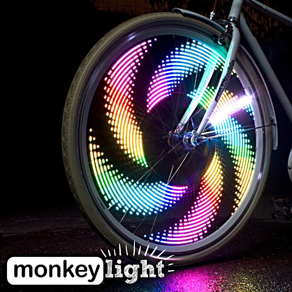 200 Lumen Monkey Light M232 200 Lumen Bike Wheel Light 32 Full Color