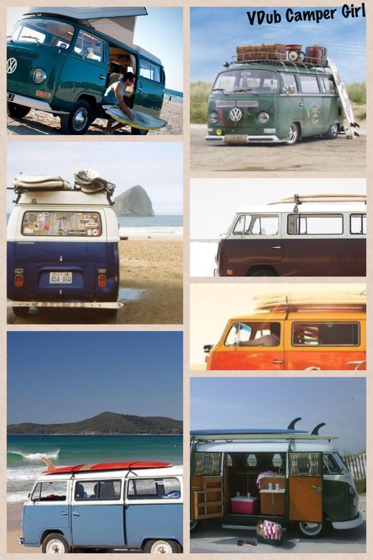 Vw Surf Bus : Buses, Camper, Girl., Volkswagen, Camper,, Vintage