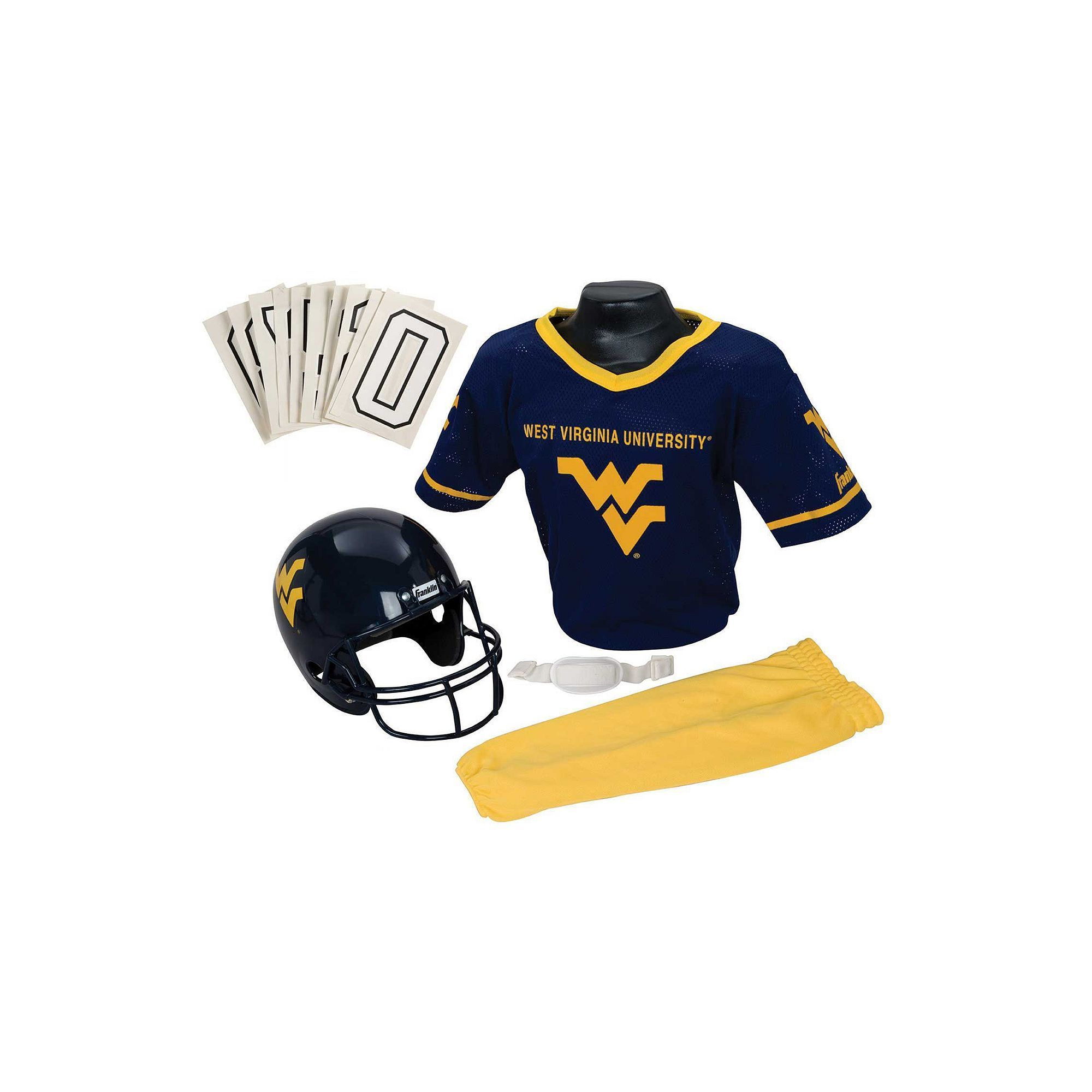 f1e5cc0ed69 Franklin Ncaa West Virginia University Mountaineers Deluxe Football Uniform  Set, Boy's, Size: S/M, Multicolor