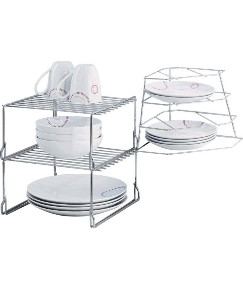 Plate Storage Rack Kitchen Buy Steel Cupboard Storage Solution Plate Racks At Argoscouk