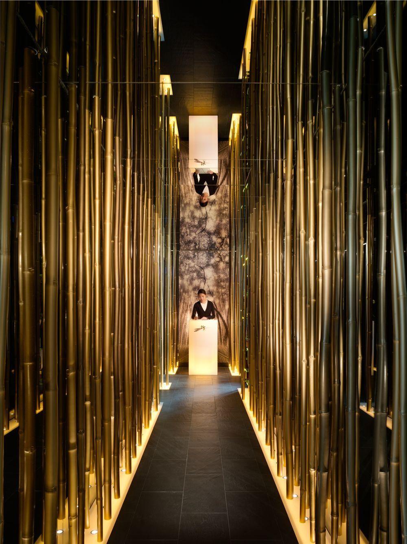 Bamboo Walls With Images Japanese Restaurant Design Entry Design Modern Restaurant