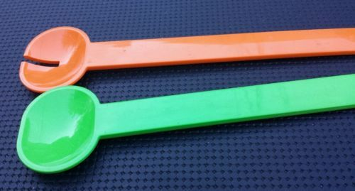 Plastic #orange / green #salad serving set made in #france,  View more on the LINK: 	http://www.zeppy.io/product/gb/2/141854932372/