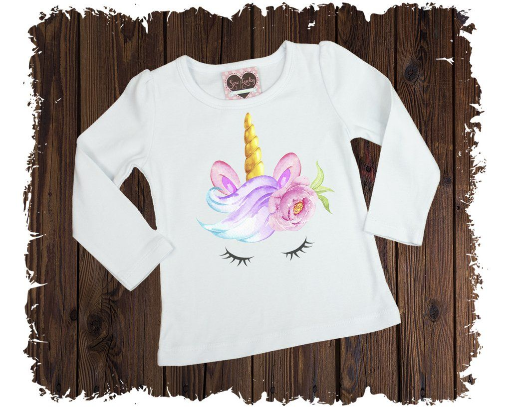 Unicorn Watercolor Printed T Shirt Boutique Shirts Print T
