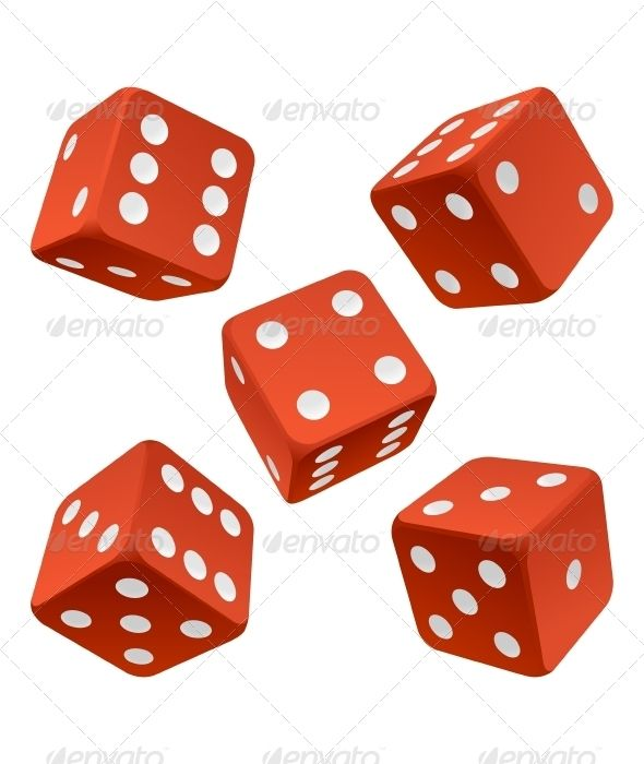 Red Dice Set Vector Icon Vector Icons Black Background Images Diamond Vector