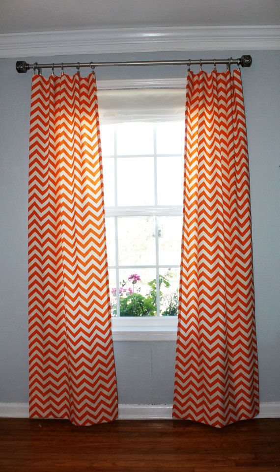 Zigzag Chevron Curtain Panels Your Choice Of By Lafortunelinens