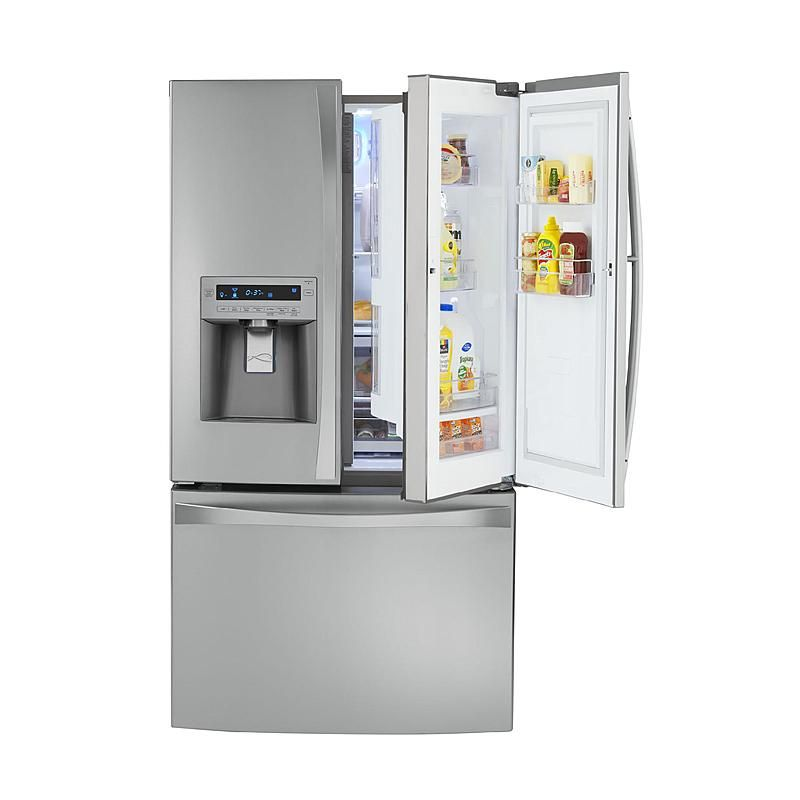 Kenmore Elite - 72373 - 29 cu. ft. Grab-N-Go French Door Bottom-Freezer Refrigerator - Stainless Steel | Sears Outlet http://www.searsoutlet.com/29-cu-ft-Grab-N-Go-French-Door-Bottom-Freezer-Refrigerator-Stainless-Steel/d/product_details.jsp%3Fstxt%3Dslim+kenmore+elite+refrigerator%26md%3Dsrh_md%26pn%3D1%26ps%3D25%26pid%3D117517&cid=8003&mode=buyUsedOnly&itemSelectionType=all