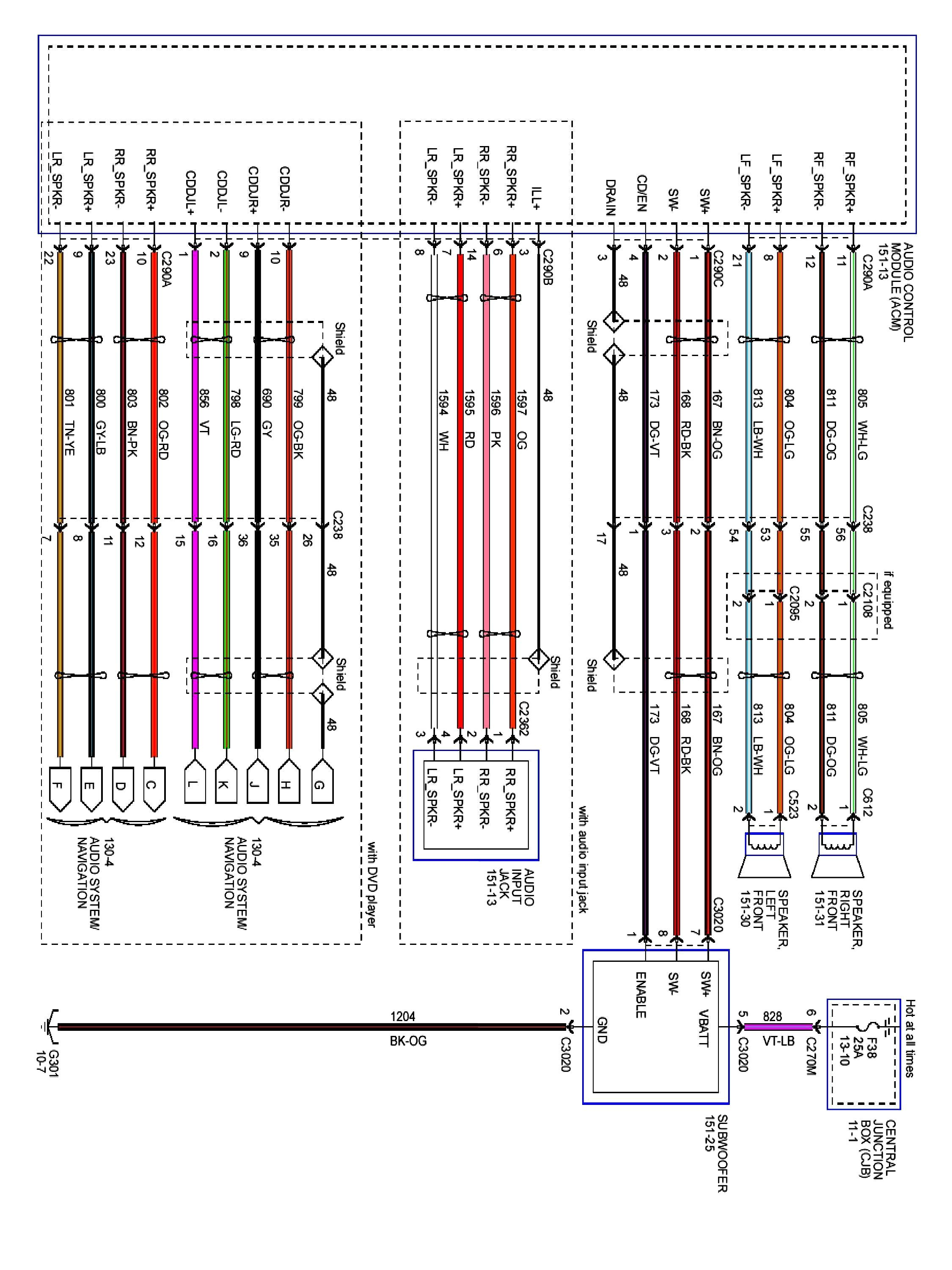 2001 Ford Taurus Stereo Wiring Diagram 2000 At 2004 Ford F150 Ford Expedition Diagram