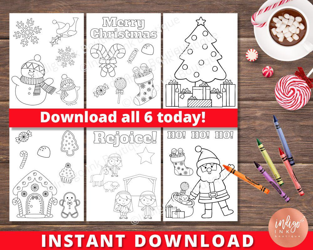 Kids Christmas Coloring Pages Kids Coloring Sheets Holiday Coloring Printables For Kids Instant Download Kids Christmas Coloring Pages Christmas Coloring Pages Kids Christmas