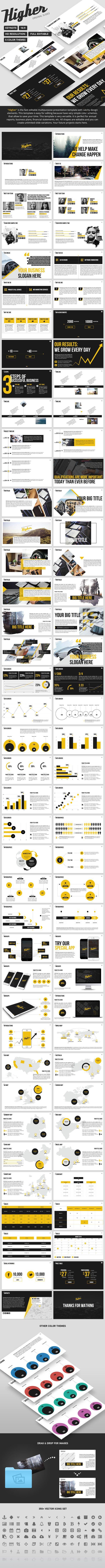 Higher - Creative Keynote Template | Brillar y Formato