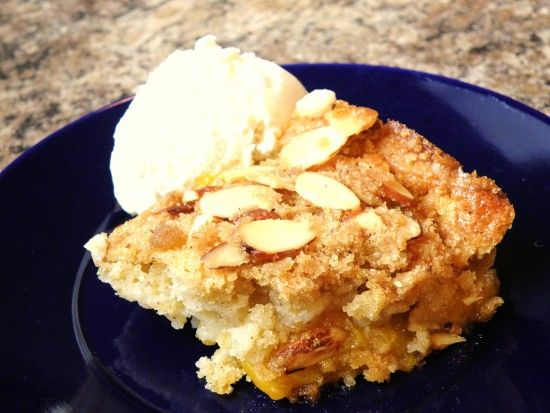 Cracker Barrel Peach Cobbler With Almond Crumble Topping