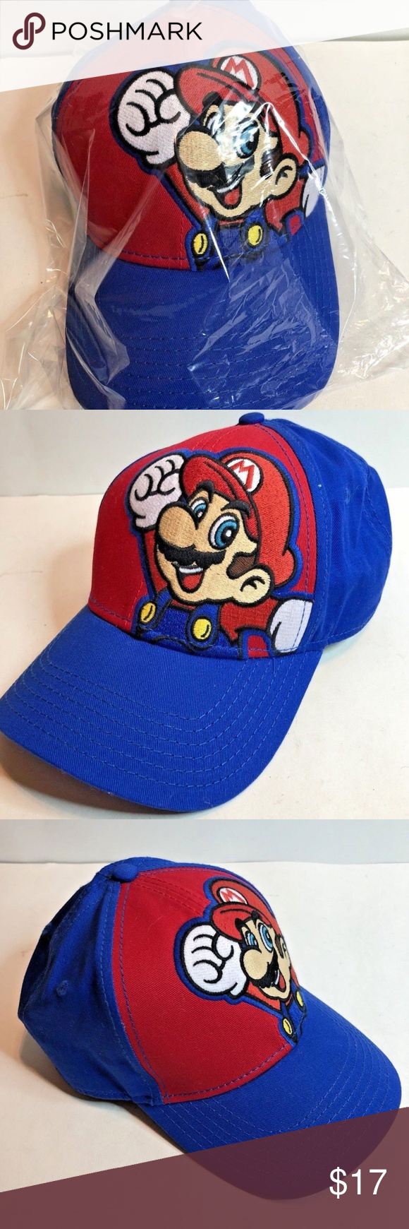 Super Mario Hat Cap Embroidered Quality Size Youth Super Mario Hat Mario Hat Unique Items Products
