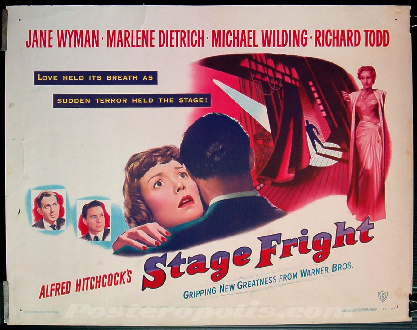April 15 - Opened on this date in 1950: Stage Fright. #Hitchcock