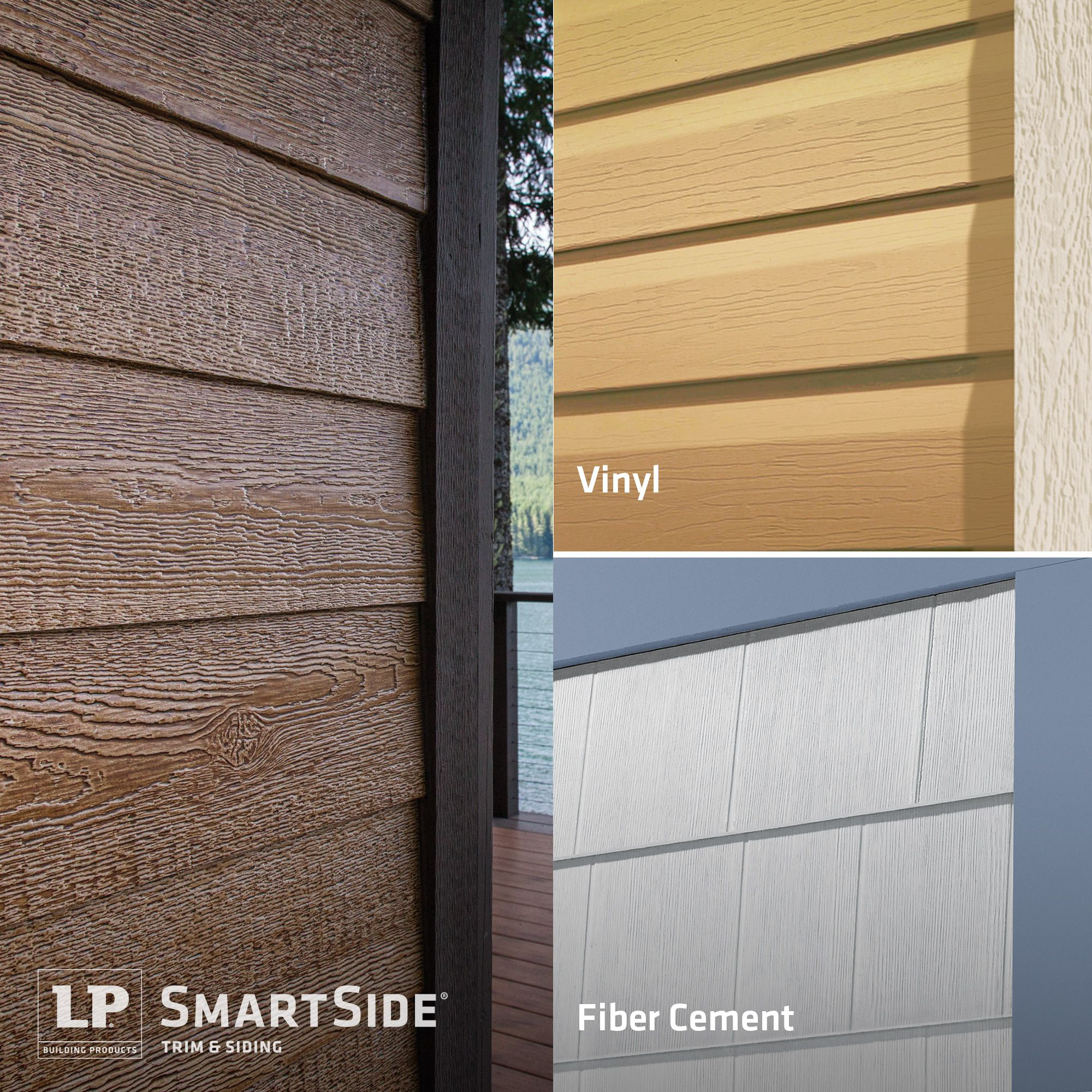 Dare to compare the true beauty and warm appeal of lp for Engineered wood siding vs fiber cement