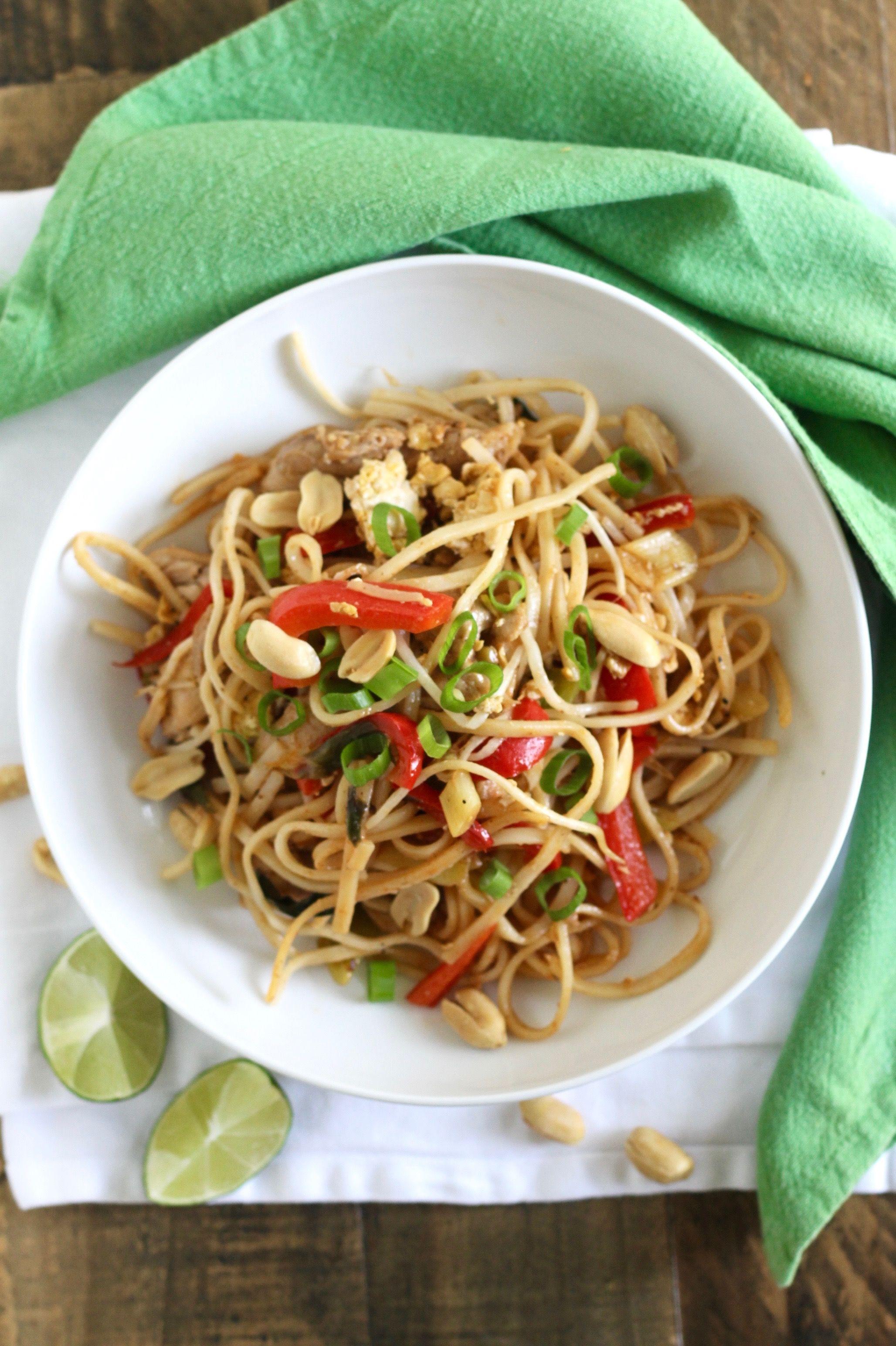 Healthy pad thai with chicken recipe chicken recipes