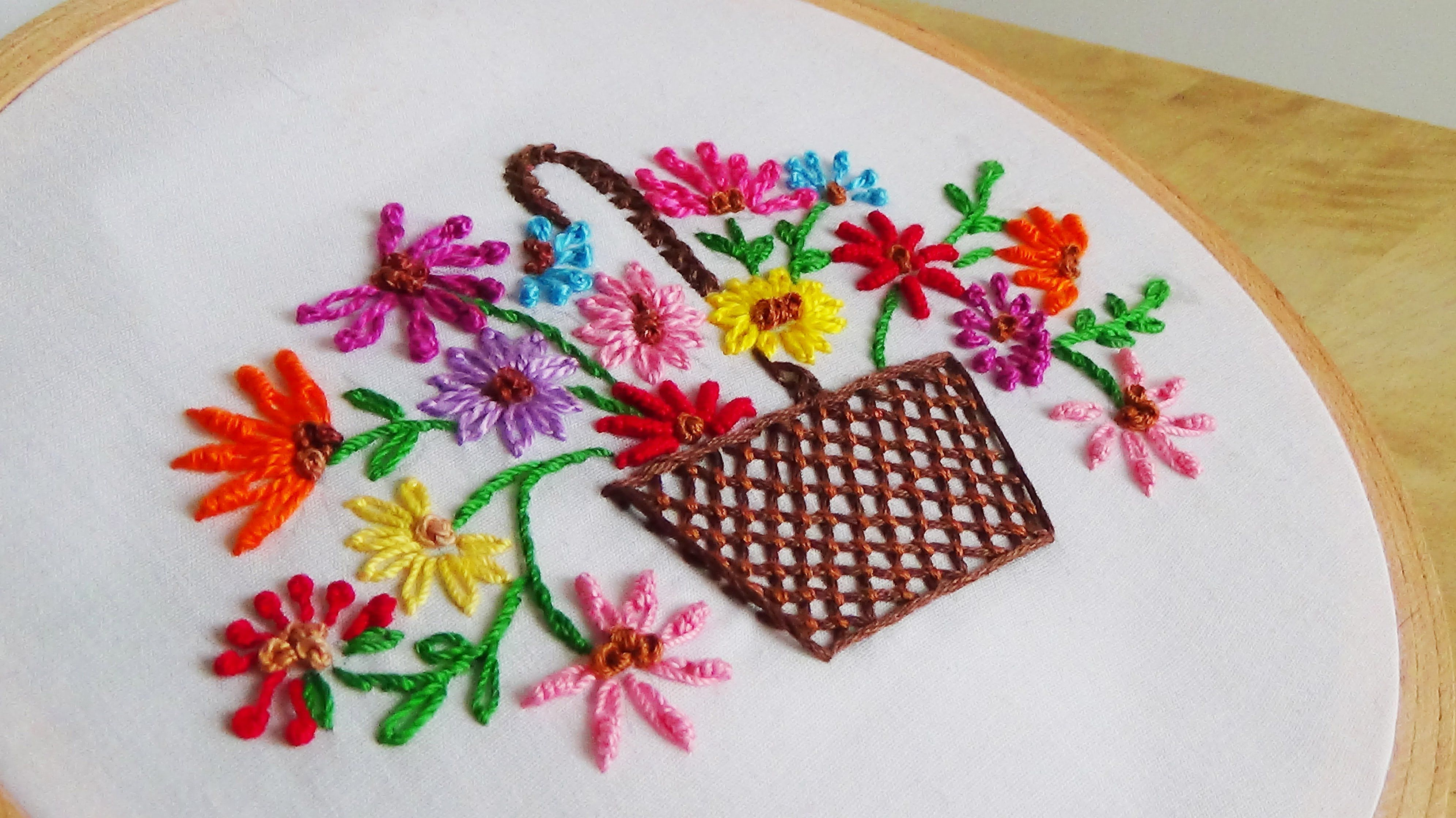 Hand Embroidered Flowers Patterns Topsimages