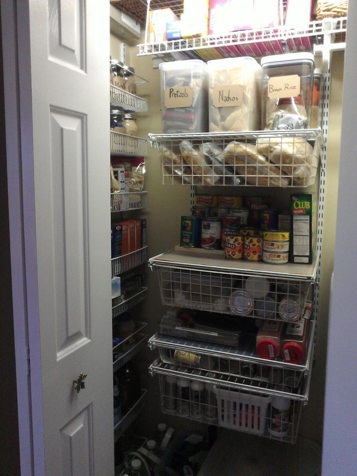 Turning a foyer closet into a half coat closet and half pantry.  Kids helped me complete it done in three hours.:)