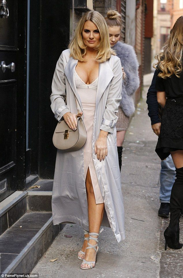 In the style: Danielle Armstrong was spotted arriving at The Mansion Club In Liverpool on ...
