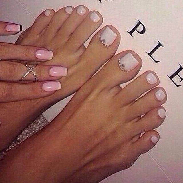 Cute Mani Pedi Valentines Nails Feet Nails Nails Inspiration