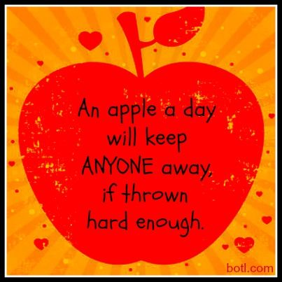 An Apple A Day......Let's not unintentionally throw our