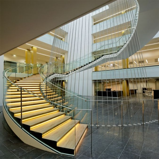 Strasbourg National University Library By Anma Strasbourg Library Stairs