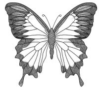 Members Free Vintage Butterfly Digital Stamp Outline
